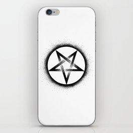 Inverted Pentagram iPhone Skin
