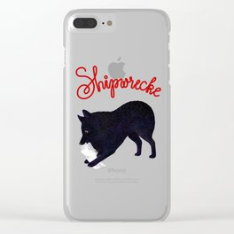 Shipwrecke (Gray and Red) Clear iPhone Case
