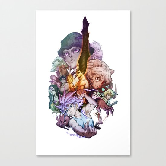 Canvas 2 Anime Characters : Hunter characters canvas print by prince of