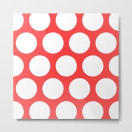 Large Polka Dots: Coral Pink Metal Print