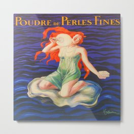 Poudre de Perles Fines Vintage Poster Metal Print
