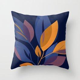 Scorpio Dark Floral Throw Pillow