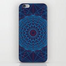 Geometric Circle Blue/Red iPhone Skin