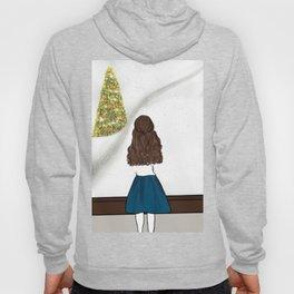 Admiring A Winter Wonderland At Christmas Illustration Cartoon Hoody