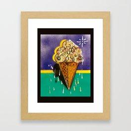 """Cream Cone #12"" self portrait of the artist. Framed Art Print"