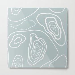 Topographic abstract map pattern 7 Metal Print