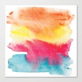 Colorful No 4 Watercolor Painting by #MahsaWatercolor Canvas Print