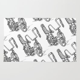 'Slicks R 4 Chicks' - Girls Mod Stingray Muscle Bike Cartoon Retro Bicycle Rug