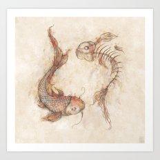 Yin Yang Fish Art Print