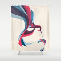 hummingbird Shower Curtains featuring Hummingbird by Jay Fleck