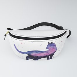 Galaxy Forest Cat Fanny Pack