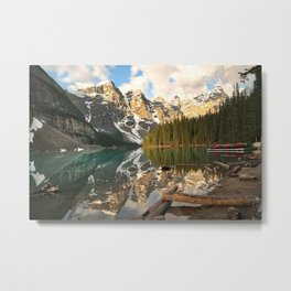 Calm Moraine Lake Metal Print