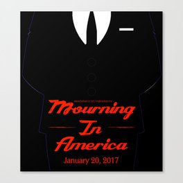 Mourning In America Canvas Print