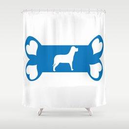 I Love my Dog Shower Curtain