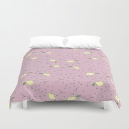 Lemon Dot - Pink Duvet Cover