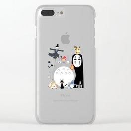 Studio Ghibli Gang Clear iPhone Case