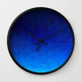 Cyan Circular Wall Clock