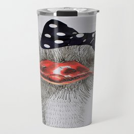 Ostrich with bow in hair Travel Mug