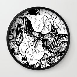 Flora over Fauna... Or Something Like That. Wall Clock