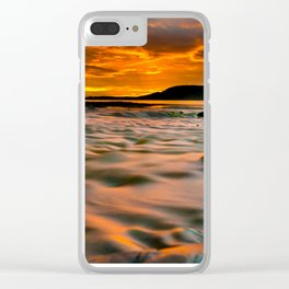 Rocky Harbour Sunset Clear iPhone Case