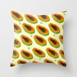Papaya Print Throw Pillow
