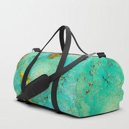 Crackeled Turquoise Stone Duffle Bag