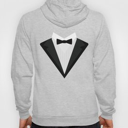 Black Tuxedo Suit with bow tie T-Shirt D946n Hoody