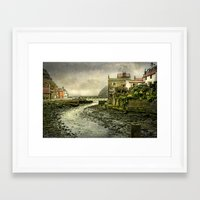 cassia beck Framed Art Prints featuring The Beck at Staithes by tarrby/Brian Tarr