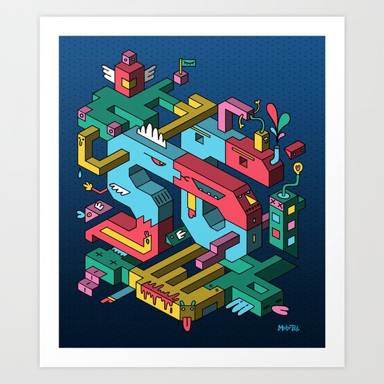 Font of all Known Ledges Art Print