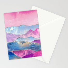 Abstract Mountain Landscape  Digital Art Stationery Cards