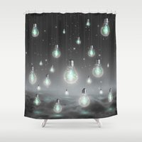 bright Shower Curtains featuring Shine From Within (Shine Bright Series) by soaring anchor designs