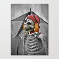 scary Canvas Prints featuring scary by mayrarosito