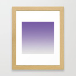 Lavender to White Framed Art Print