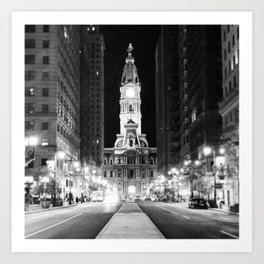 Philly by Night Art Print