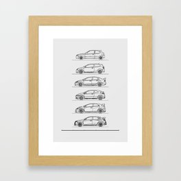 TYPE R EVOLUTION Framed Art Print