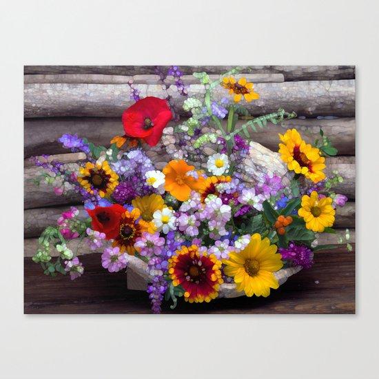 POP floral still life Canvas Print