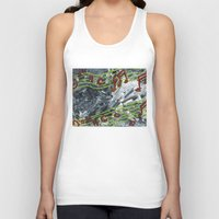 music notes Tank Tops featuring Music Notes by Paxelart