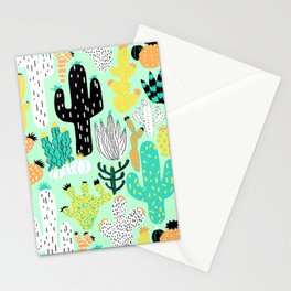 Cactus Crazy in Mint - Large Scale Stationery Cards