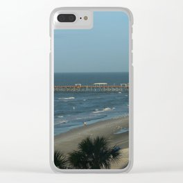 A Winterday At The Florida Gulf Coast Clear iPhone Case