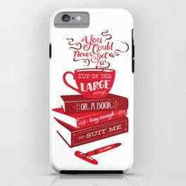 Tea & Books (C.S Lewis) - red iPhone Case