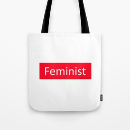 Feminist Red Rectangle Tote Bag