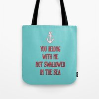 coldplay Tote Bags featuring You Belong With Me by larlener