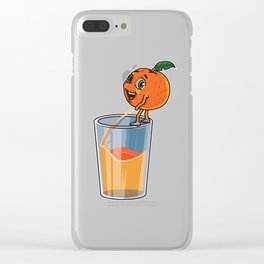 Freshly Squeezed Orange Juice Clear iPhone Case