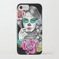 aaliyah iPhone & iPod Cases featuring Aaliyah - Day of the Dead by DejaLiyah