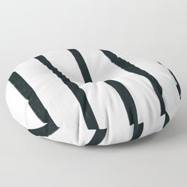 MOD_ThickStripesLight_Charcoal Floor Pillow