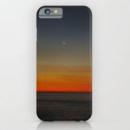 Moon over dusk iPhone Case
