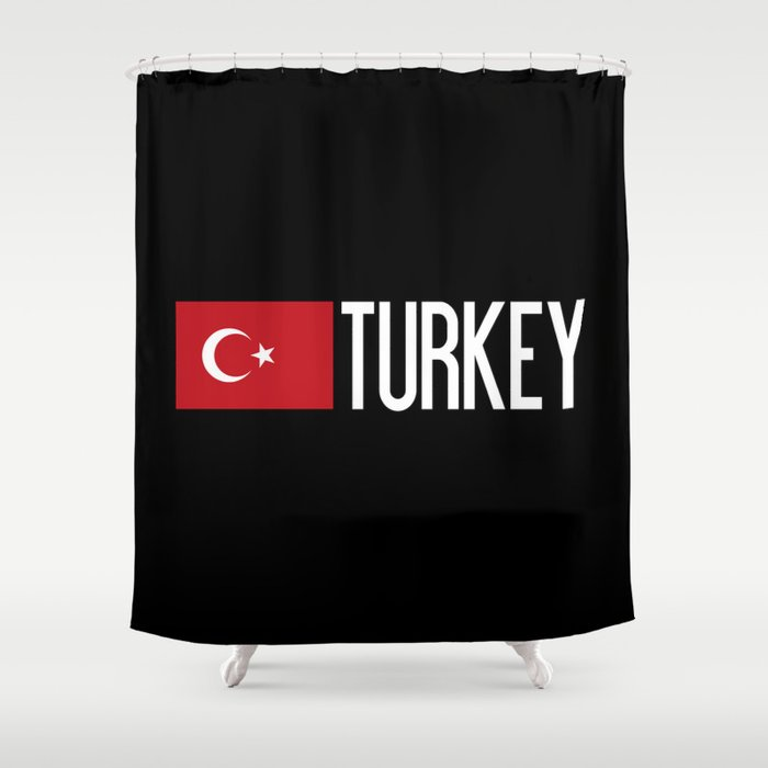Turkey Turkish Flag Shower Curtain By Jsdavies