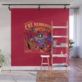 Cat Revolution Wall Mural