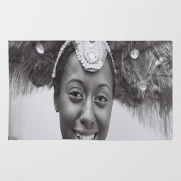Black and White Photograph Toronto Canada Caribana Street Festival Rug