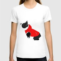 boston terrier T-shirts featuring Boston Terrier by Marstella